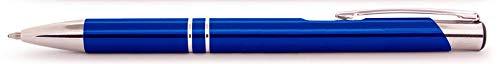 Dunkelblauer Aluminium Kugelschreiber Paragon mit SOFORTGRAVUR + VORSCHAU: Gravur Vornamens. in Geschenkverpackung