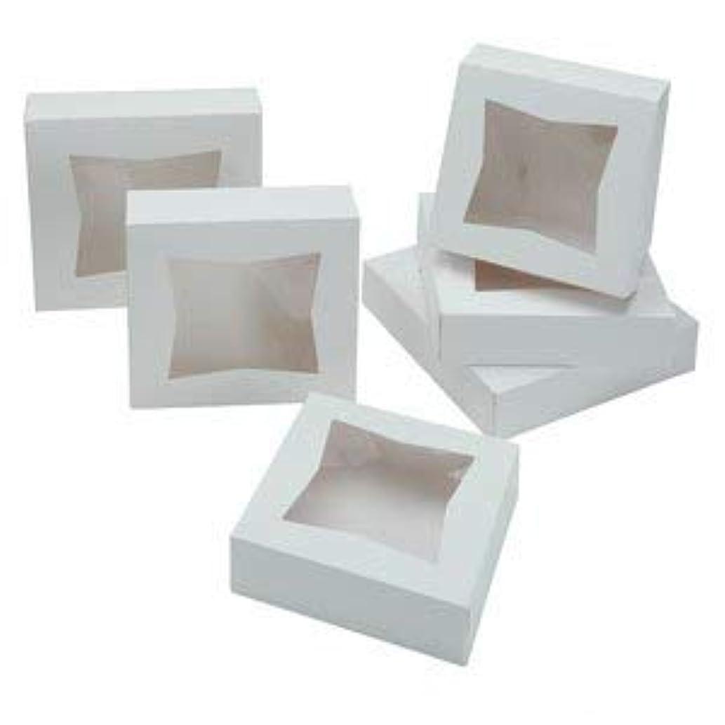 Pie Boxes: 10x10x2.5 inch White Window Bakery Cake Box Set (10 Pack)