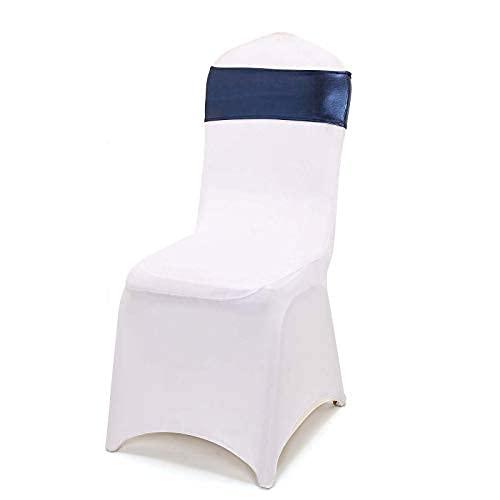 5 pezzi di telai per sedie in spandex metallico con fibbia a diamante rotonda attaccata per decorazioni per ricevimenti e cerimonie di feste di matrimonio (grigio antracite)