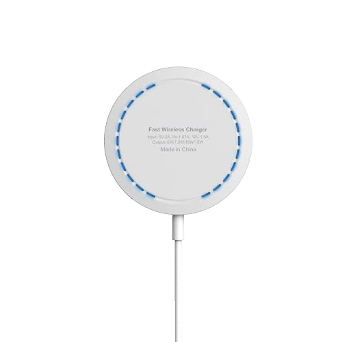 Cargador magnético inalámbrico compatible con cargador Mag-Safe, almohadilla de carga rápida imanes integrados con tipo C y puerto USB A compatible con iPhone 12/12 Mini/12 Pro/12 Pro Max/AirPods Pro