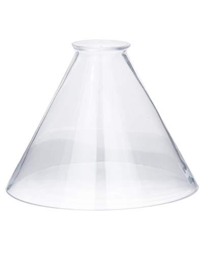 B&P Lamp Clear Glass Deep Cone Shade (7 Inch)
