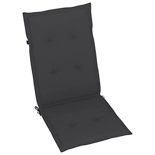 vidaXL 4X Gartenstuhl Auflage für Hochlehner Kissen Sitzkissen Stuhlkissen Polster Stuhlauflage Sitzauflagen Sitzpolster Anthrazit 120x50x4cm
