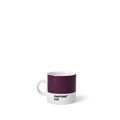 Copenhagen design Pantone Espresso, Small Coffee Cup, Fine China (Ceramic), 120 ml, Aubergine, 229 C, Berenjena, 6.2 cm