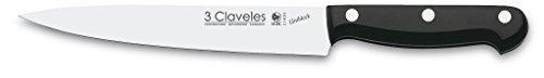 3 Claveles Uniblock - Cuchillo profesional para filetear pescado 17 cm