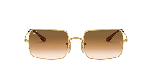 Ray-Ban Rectangle Lentes Oscuros, Gold Light Brown Gradient, 54/19/145 para Mujer