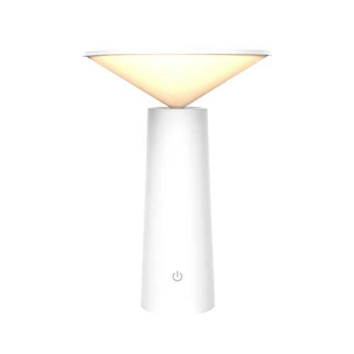 ZWL Tischlampe USB LED Tischlampe Schlafzimmer Lesebuch Licht LED Desktop Touch Sensor Tischlampe,Weiß