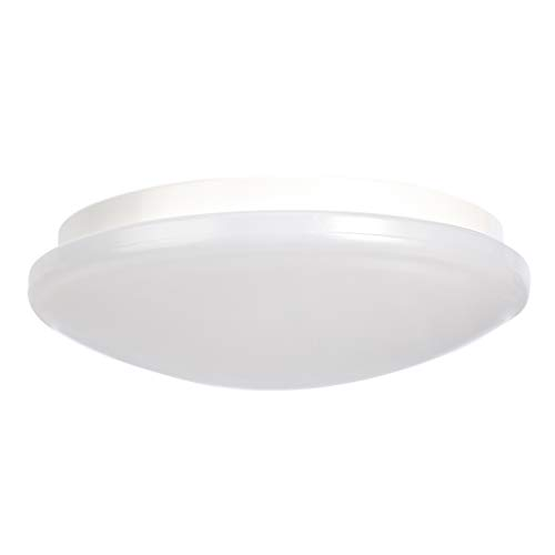 Amazon Basics Plafón redondo de Ø320mm, luz led de 17W 4000K, blanco frío, 1 unidad
