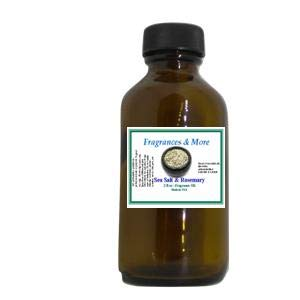 SEA Salt Rosemary Fragrance Oil | for Soap Making| Candle Making| for Use with Diffusers| Add to Bath & Body Products| Home and Office Scents| 2 oz Amber Glass Bottle