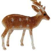 Anniversary House BX164 Reindeer Cake Topper-6 Pcs