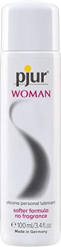 pjur WOMAN - Gleitgel für Frauen auf Silikonbasis - für prickelnden Sex und längeren Spaß - optimal für empfindliche Haut (100ml)