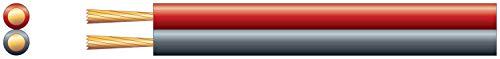 Kwik | Figuur 8 stroom/luidsprekerkabel 2 x 32 Strand | Rood/Zwart | 100m 100 Meters