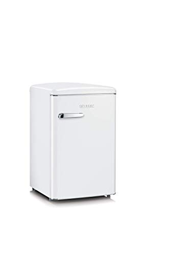 SEVERIN Retro-Tischkühlschrank, 106 L, Energieeffizienzklasse A+++, RKS 8835, weiß