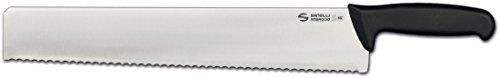 Sanelli Ambrogio Supra Coltello Formaggio Punta Quadra, Lama Dentata, Acciaio Inox, Grigio, 42 cm