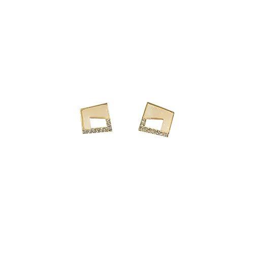 Design gevoel van hoogwaardige geometrische diamanten piercings oorbellen temperament sexy minimalistische oorbellen vrouwelijk