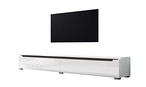 Swift – Fernsehschrank/Tv-Lowboard In Weiß Hochglanz Hängend Oder Stehend 180 Cm