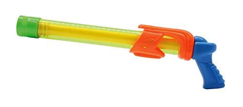 JAMARA 460313 - Mc Fizz Fizzy Balls - 2 in 1 Wasserpistole mit Softbällen, Wasser spritzen oder Bälle schießen, Pumpsystem, leicht zu bedienen, Spritzreichweite ca. 7 m - Ballreichweite ca. 9 m, grün