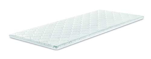 Traumnacht Surmatelas orthopédique et viscoélastique avec effet en mousse à mémoire (Memory Foam), Blanc, 90 x 200cm