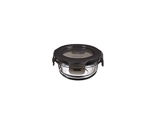LocknLock Oven Glass Glas Frischhaltedose mit Deckel 130ml, Ø 100 x 50mm, Rund, Kühlschrank-, gefriertruhen- und spülmaschinengeeignet, Borosilikat-Glas bis 400°C ofen- & mikrowellenfest