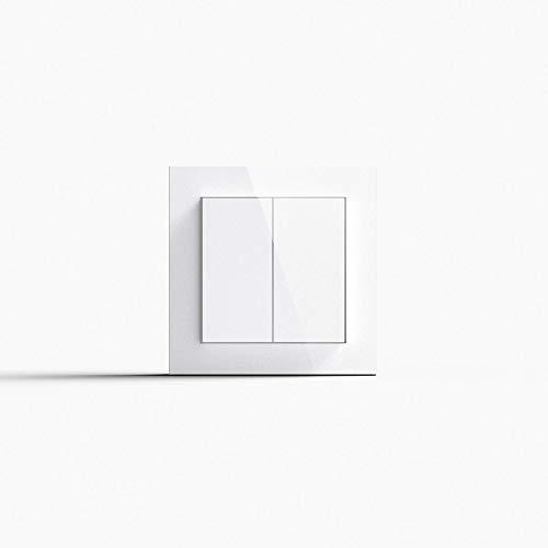 Friends of Hue Smart Switch: Kabelloser Philips Hue Schalter und Dimmer (Keine Batterien, Kein Aufladen, Exklusiv für Philips Hue Lichter), Weiß Glänzend