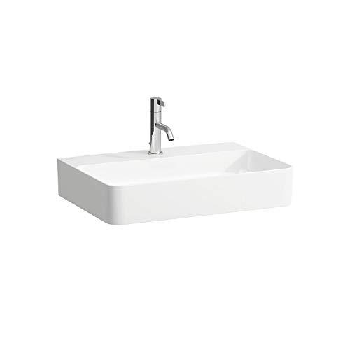 Laufen VAL Möbel-Waschtisch, 1 Hahnloch, ohne Überlauf, 600x420, weiß, Farbe: Weiß mit LCC