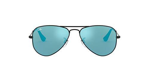 Ray-Ban Aviator Junior Gafas de sol, Matte Black, 50 Unisex-Niño