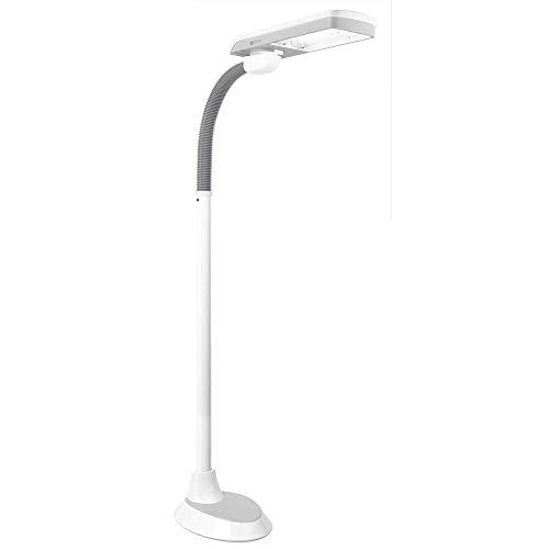 OttLite 36 Watt Pivoting Shade Floor Lamp, White