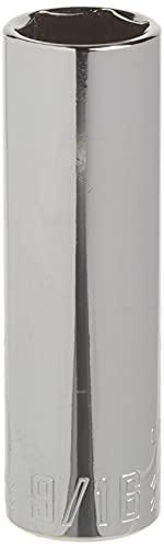 CRAFTSMAN Deep Socket, SAE, 3/8-Inch Drive, 9/16-Inch, 6-Point (CMMT43334)