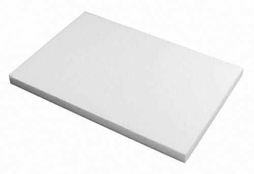 Rayher 3316600 Styropor-Platte, 20 x 30 x 2 cm, zum Basteln, Bekleben, Dekorieren, Bemalen, für den Modellbau