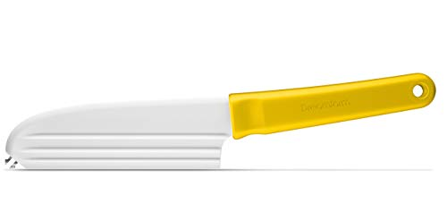 Dreamfarm Knibble Lite  Non-Stick Cheese Knife with Stainless Steel Forks  Yellow