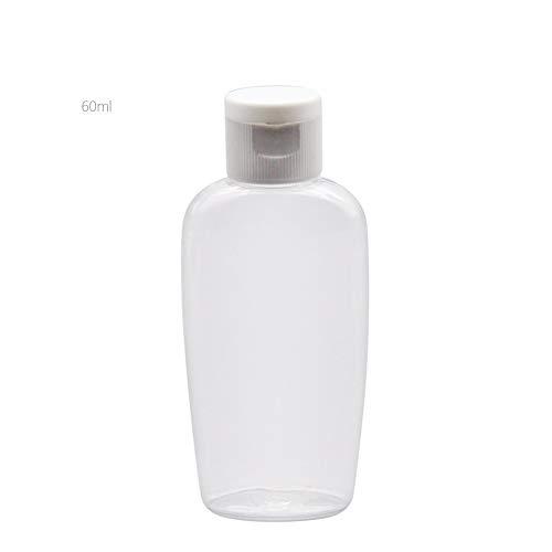 50 stuks Portable doorzichtige plastic Vakantiereizen fles Fine Mist Spray flessen, lege cosmetische flessen (Size : 60ml)