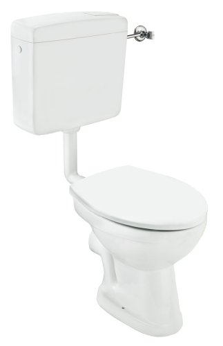 Cornat Tiefspül-Stand-WC Komplettset weiß / Tiefspüler / Toilette / Badezimmerkeramik / Toilette mit WC-Sitz / Badezimmer / SKTBD00