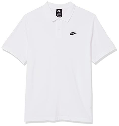 NIKE M NSW CE Polo Matchup Pq Polo Shirt, Hombre, White/Black, S