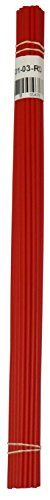 Polypropylene Plastic Welding Rod, 1/8' Diameter, 30 Ft, Red