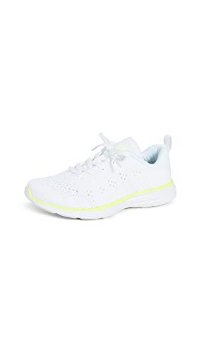 APL: Athletic Propulsion Labs Women's Techloom Pro Sneakers, White/Metallic Pearl/Energy, 9 Medium US
