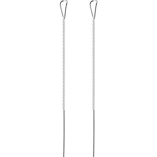 TYERY Alambre de Hongo Blanco S925, Joyería de Oreja en Forma de Gota Hueca Simple Y Generosa de Estilo Japonés Femeninoalambre hongo blanco s925