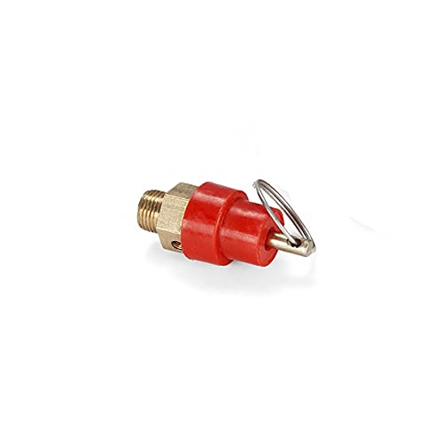TANGIST 1/4'BSP Hilo macho 1kg 0.1MPA 15PSI Válvula de liberación de seguridad Regulador de alivio de presión para compresor de aire