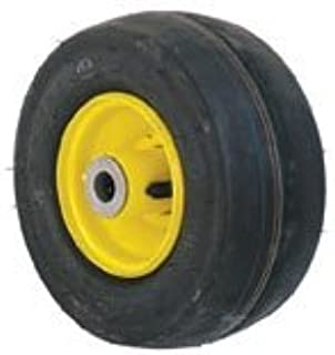 John Deere Bunton Smooth Caster Tubeless Wheel 9X3.5X4 Yellow 4 Ply Part No: A-B1CO8550 AM115510 8550