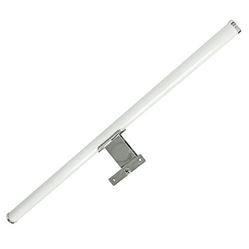 Lámpara de Espejo Baño LED 8W, 60cm, IP44 a prueba de agua, Aplique Pared Cromado Luz Blanca Natural 4000K Gran luminosidad (8w - 60cm)