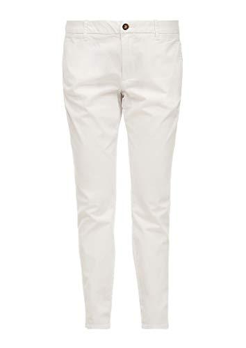 s.Oliver Damen Slim Fit: Slim Ankle Leg-Chino White 38