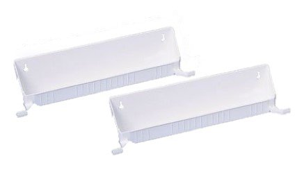 Rev-A-Shelf 6562-14-11-52 14 Inch Wide Tip-Out Accessory Organizer Tray with Heavy Duty Tab Stops, White, 2 Pack
