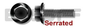 6-32X1 4 Serrated Hex Flanged Washer Oxi Soldering Thread Large discharge sale Black Screw Full