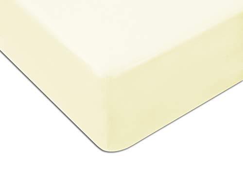 MoDHAUS - Lenzuolo con angoli elasticizzati, in jersey, 70 x 160 cm, colore: Ecru
