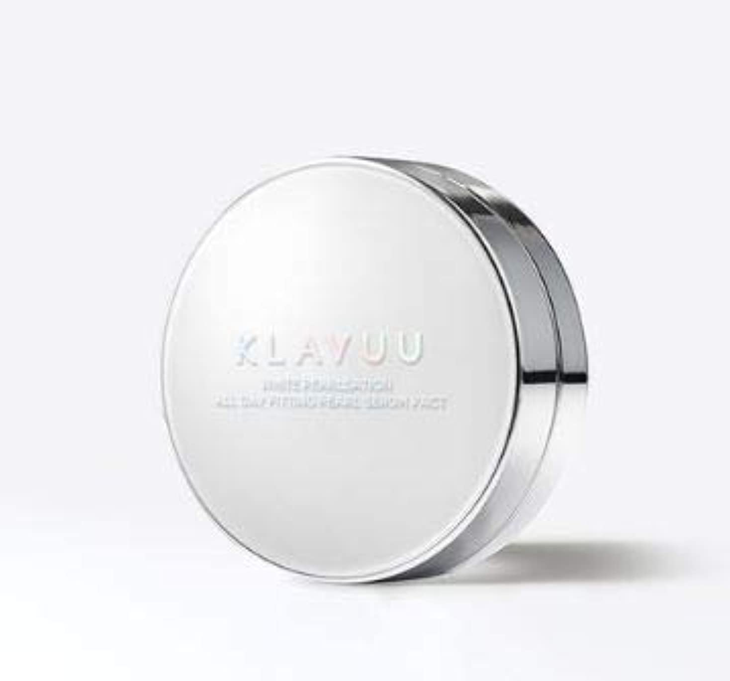 局ラジウム強打[KLAVUU] WHITE PEARLSATION ALL DAY FITTING PEARL SERUM PACT SPF50+ PA++++ /ホワイトパールセーションオールデイフィッティングパールセラムパクトSPF50+ PA++++ (#21号) [並行輸入品]