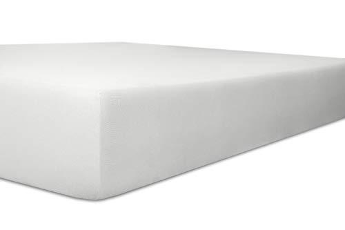 Kneer Wende-Spannbetttuch extra hoch Superior-Stretch 2N1 Q98 , Farbe:01 - weiß;Größe:90x190 - 100x220 cm