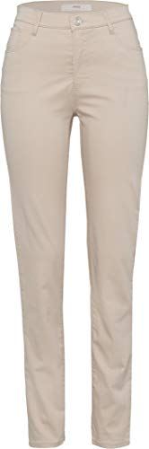 BRAX Damen Style Mary City Sport Premium Five-Pocket Slim Fit Hose, BEIGE, W27/L30(Herstellergröße: 36K)