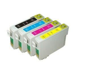 PCMOVILES Juego De 4 Cartuchos De Tinta Compatible con Epson T0711 T712 T713 T714 Negro Cyan Magenta Amarillo