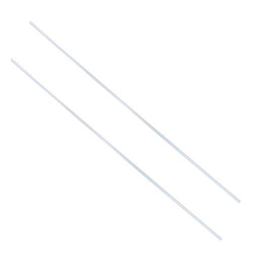 Othmro Varillas redondas de plástico de fibra de vidrio, color blanco, 2 unidades, 8 mm ODx1 m de longitud, buenas para la barra de repuesto de bandera.