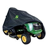 John Deere LP93917 Heavy Duty Fabric Standard Riding Lawn Mower Protective Storage Tarp Cover with Elastic Drawstring For 100-X300 Series Tractors