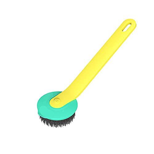 KUCOCOSNEH Cepillo para lavar platos Cepillo de fregar Cepillo Robusto Cepillo Limpiador de Cocina Cepillo de Limpieza Amarillo Verde