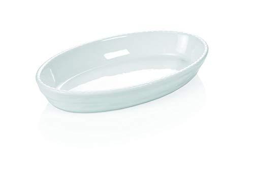 Gastro Spirit Ovale Auflaufform aus Porzellan, Farbe Weiß, 28 x 17 cm